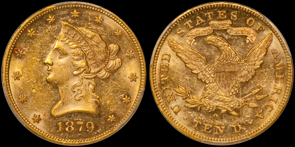 1879-O $10.00 PCGS MS61, from the  New England Collection
