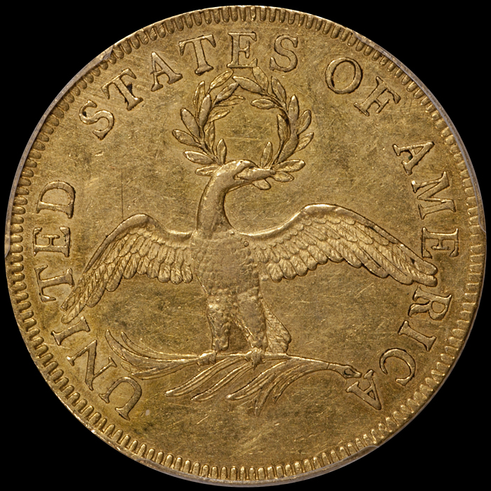 1797 $10.00 Small Eagle PCGS AU55 CAC