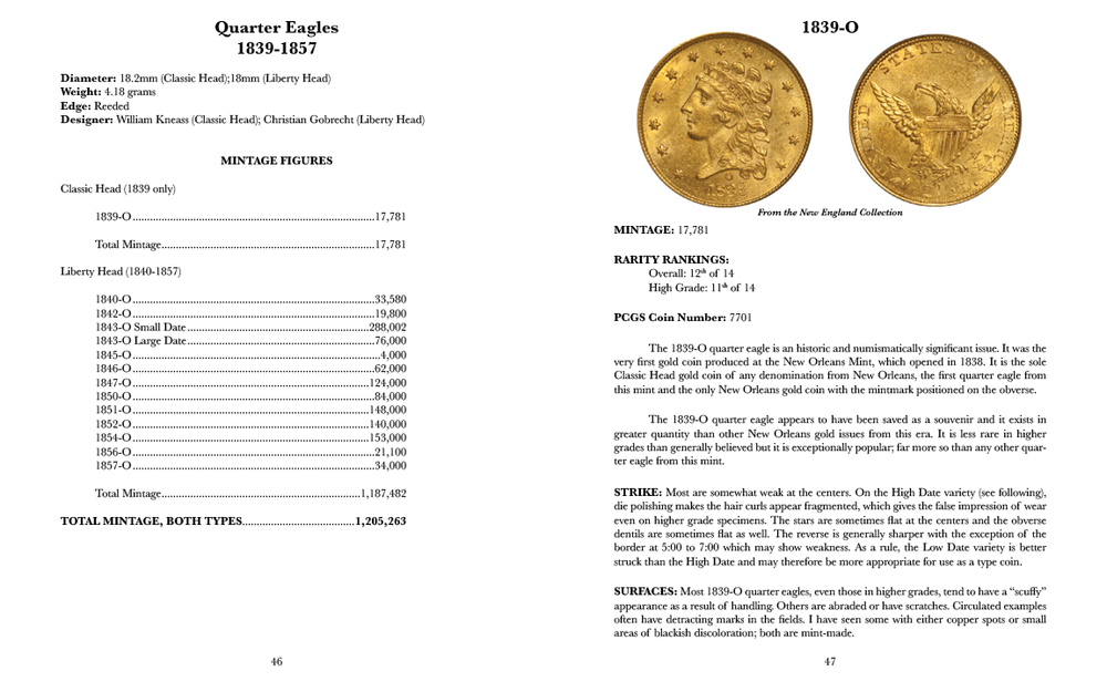 Each chapter includes information such as diameter, weight, and mintage figures; each coin has a full-color image of a beautiful example for the date and grade.