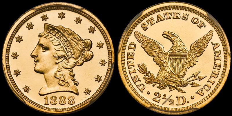 1888 $2.50 PCGS PR67DCAM CAC