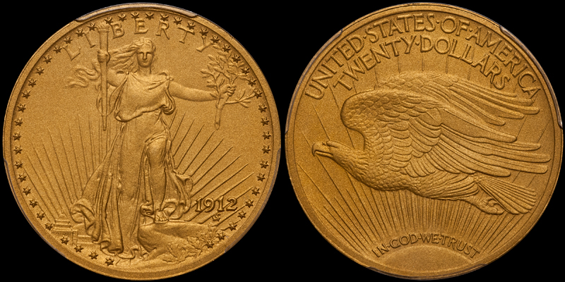 1912 $20.00 PCGS PR67
