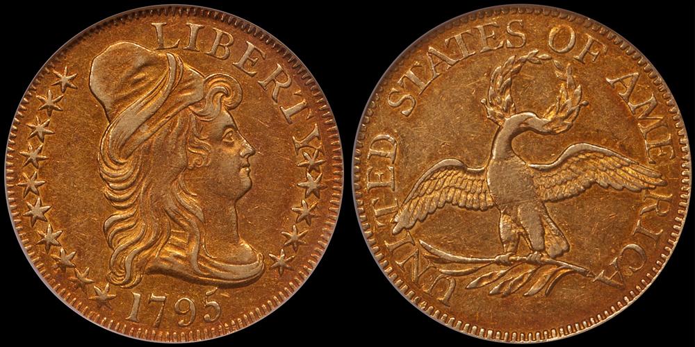 1795 Small Eagle $5.00 NGC AU53 CAC