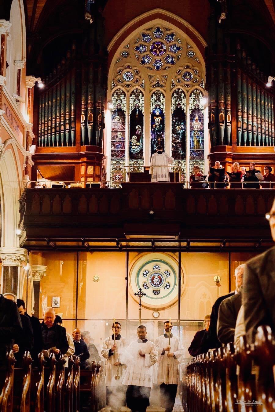 Seminarians serving at Mass