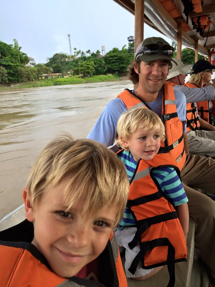 Exploring the Amazon with my family.