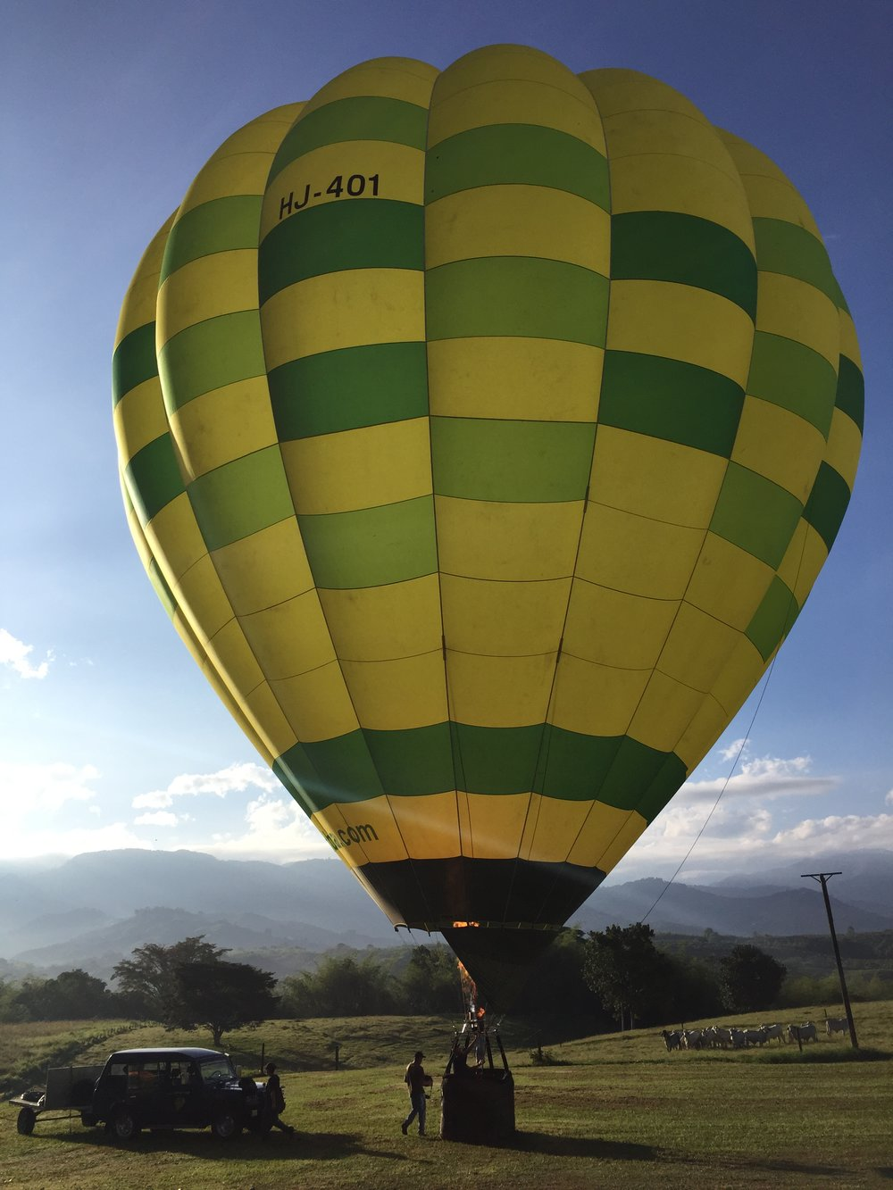 A hot air balloon ride offers guests a unique perspective of the Hacienda & surrounding countryside