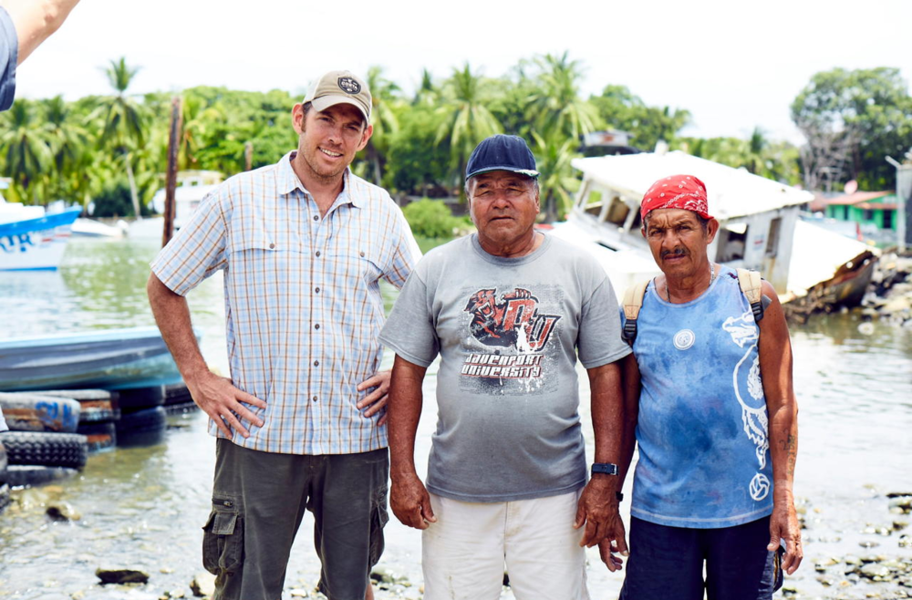Local fishermen in Puerto Jimenez, part of the Dock to Dish program at Lapa Rios