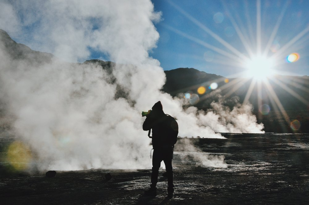 Serenity and solitude at the Tatio Geysers