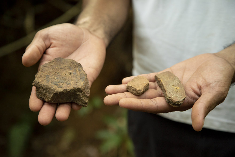 Pottery shards and stone tools found in dig sites on Isla Palenque date from 500-1400 AD, pinpointing the island as a center of trade and commerce in the region.