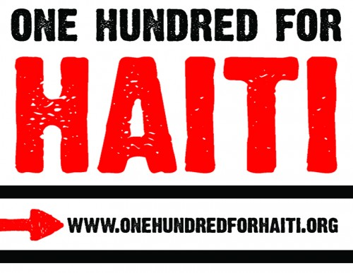 One Hundred for Haiti Sticker NEW - STICKER GUY