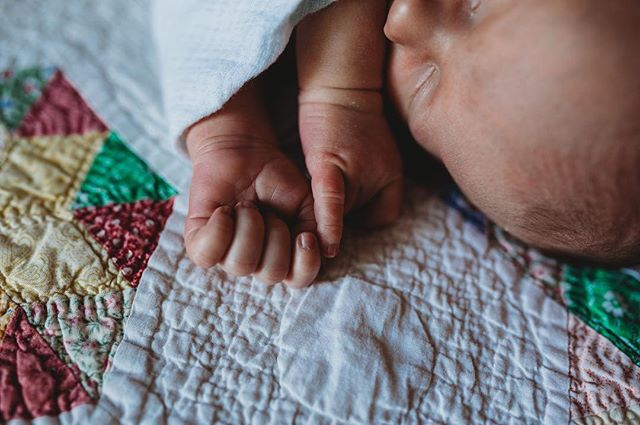 Those wrinkly little hands get me every time. What was your favorite newborn detail for your little one?