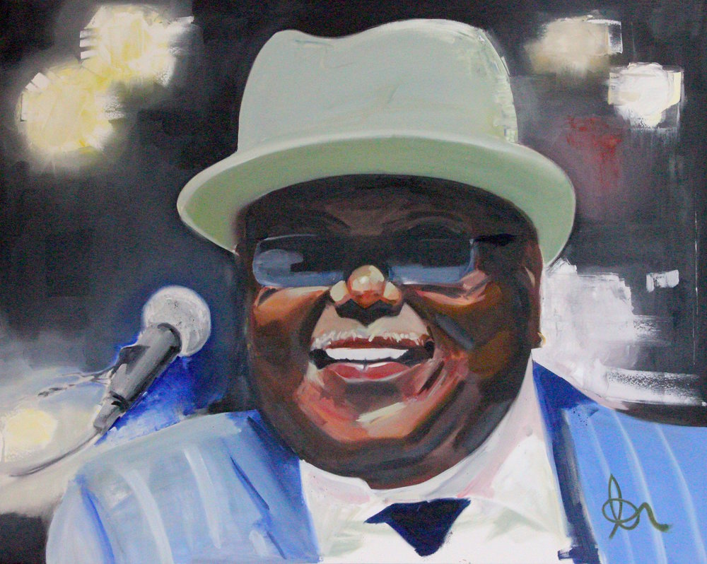 "Blues Boss: 60"" x 48"", Oil on Canvas, $1200"