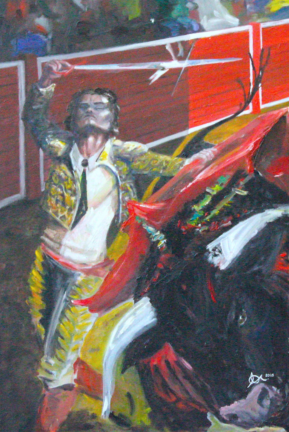 "Bolero Finale: 24"" x 36"", Oil on Canvas, $1000"