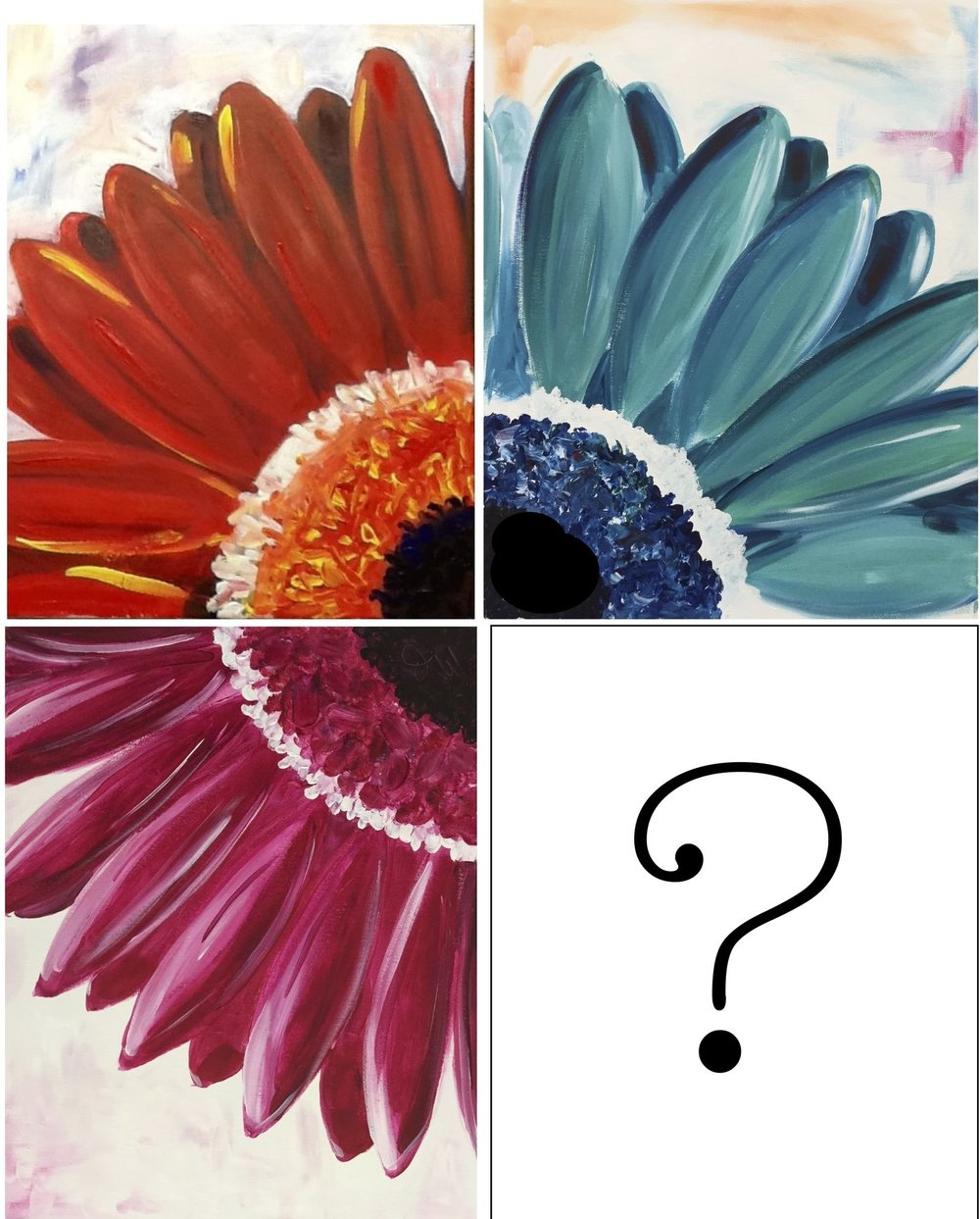 Pick a Daisy - Date: Monday, April 23Time: 6:00-8:00pmPlace: Barley StationPrice: $40/ guest*Drinks & food may be purchased from the Brew PubWhich colour daisy will you paint?