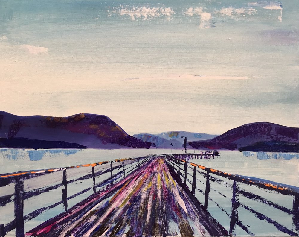 Salmon Arm Wharf - Level: ModerateDate: Friday, May 18, 2018Doors at 6:30pmPaint at 7:00pm - 9:00pmLocation: Meikle Studios Social Art HousePrice: $50/ guestIncludes: All art stuff and 2 glasses of Marionette Winery wine, or Barley Station Brew Pub Wit beer