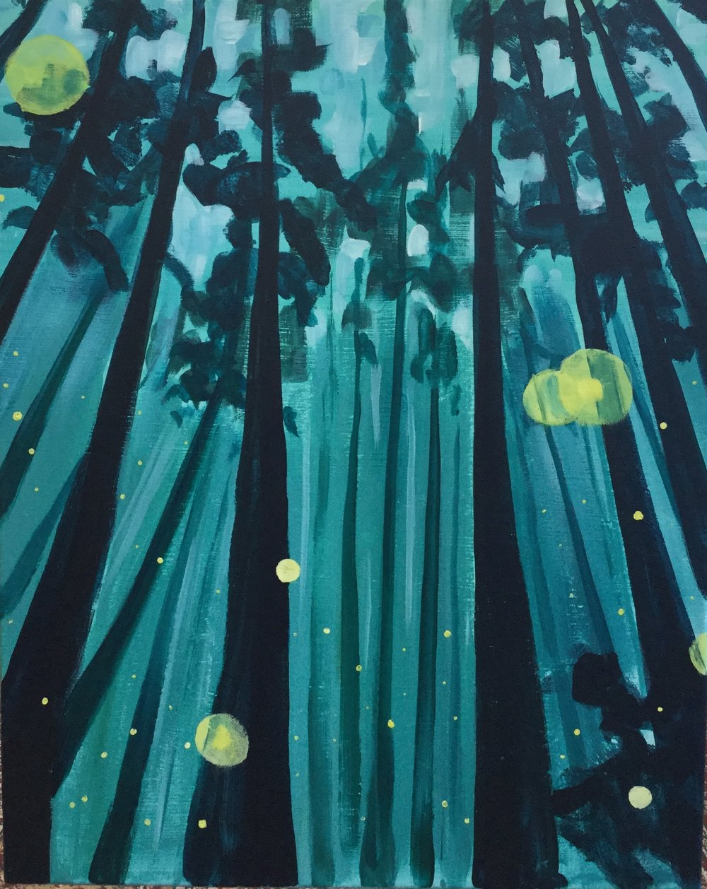Paint Night: Woodland Fairy tale - Nothing has more whimsy than fireflies!Level: EasyPrice: $40 incl. tax and all art stuff
