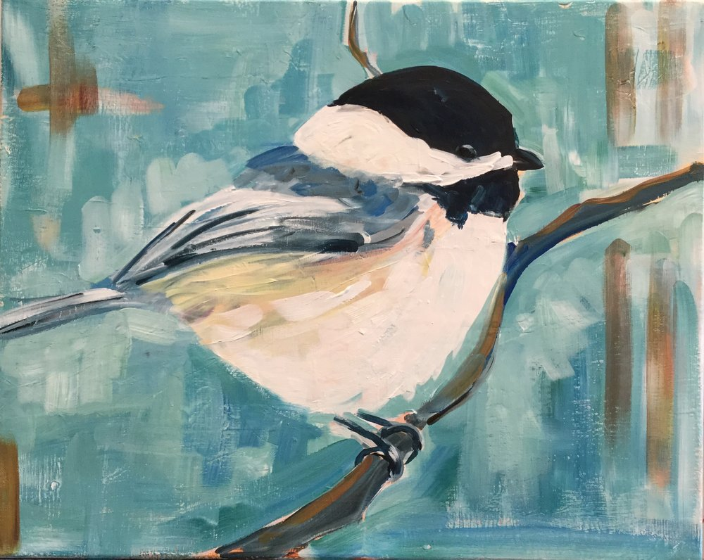 Paint Night: Chickadee - Are you obsessed with fat birds? Then you can paint this chickadee, step by step with local artist Adam Meikle.