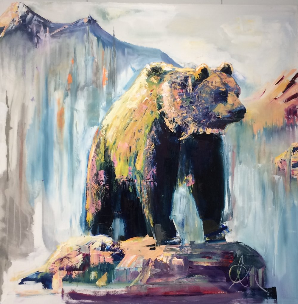 "Bear Squared - Oil on Canvas48""x48""SOLD/ PRIVATE COLLECTION"
