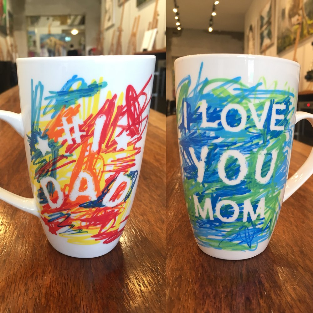 HappyMugs - These dishwasher safe mugs will be a hit with the family.. so MAKE as many as you can in 45 mins!!