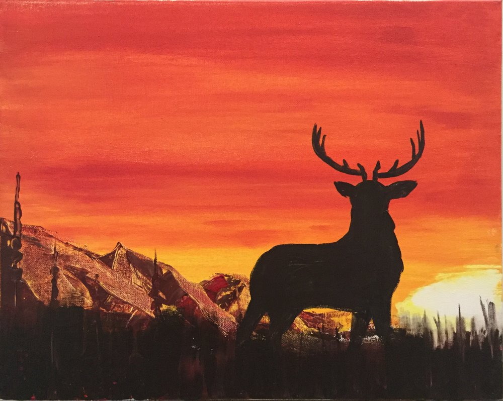 PINT & Paint: Autumn Stagg - Meet Adam Meikle at the Brew Pub for PINT & Paint: Autumn Stagg. Includes step by step instruction for beginners! Level: Easy