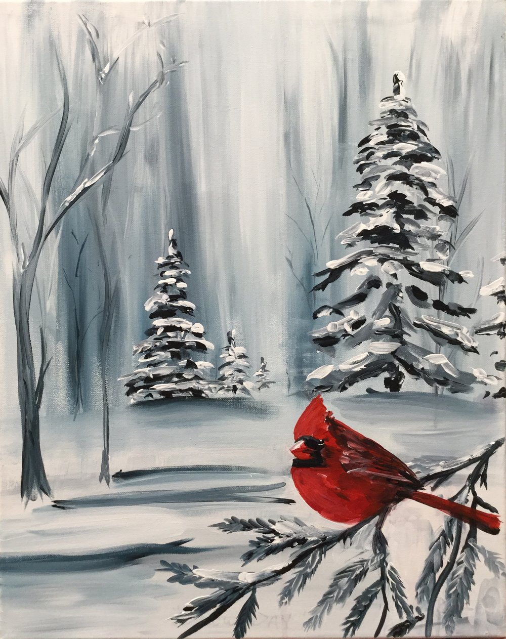 PINT & Paint: Snow Bird - Meet Adam Meikle at the Brew Pub for PINT & Paint: Snow Bird. Includes step by step instruction for beginners!Level: EasyPrice: $40/ ea.
