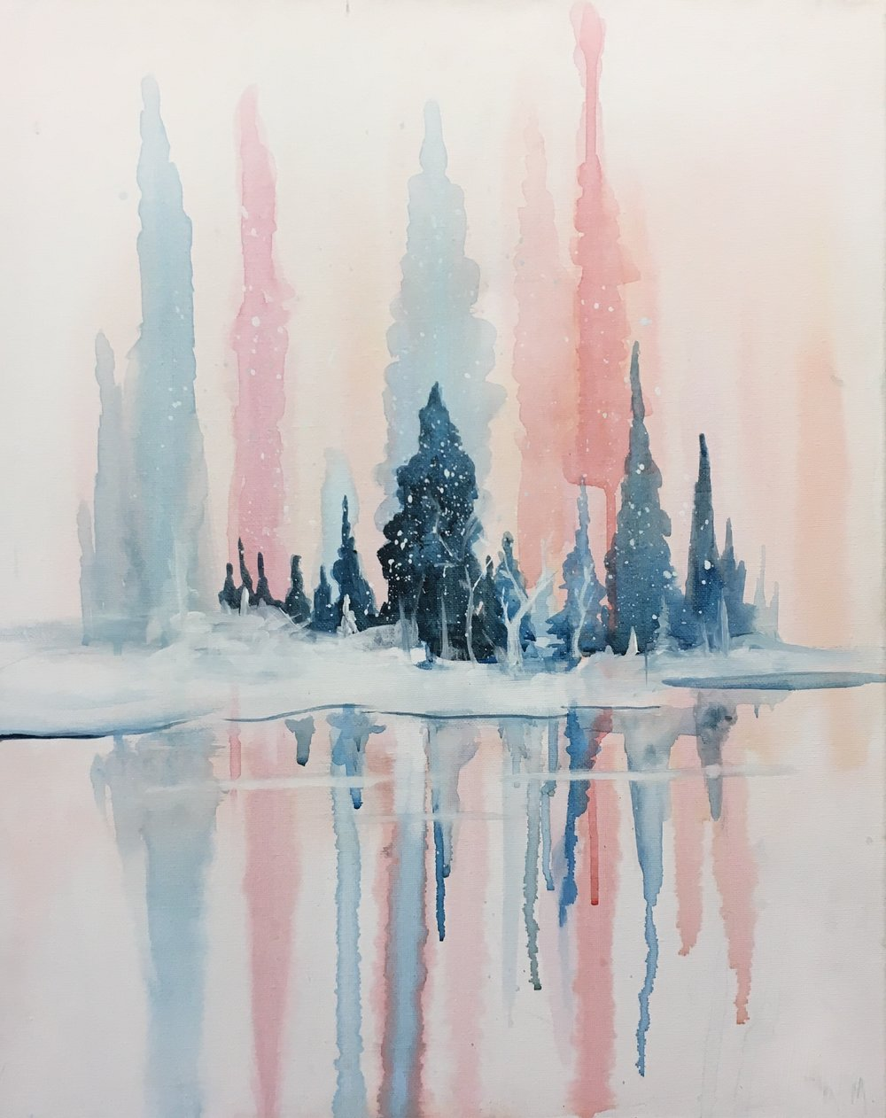 Sip & Paint: Snow Day! - Enjoy using acrylic paint like watercolours, to achieve the soft glow of this Snow Day painting - for complete beginners.** This event is for all ages **Level: EasyPlace: Boston Pizza Salmon ArmPrice: reg. canvas $40/ guestmini canvas $30/ guest