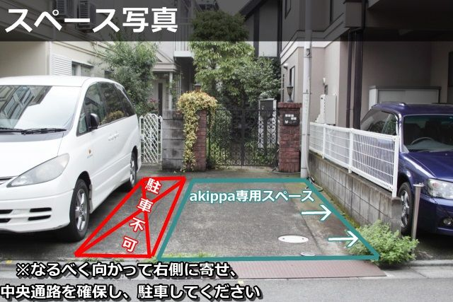 ↑土本さんのakippa駐車場。隣駐車場との境目がないことで起こるトラブルを懸念