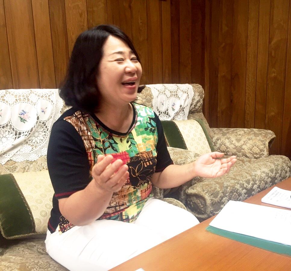 ↑笑顔で取材をお受けしてくださる浜田さん