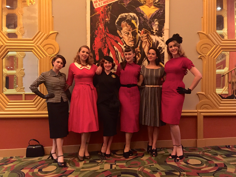 Tall ladies wore red, shorter ladies wore grey/black. No, we didn't plan it!