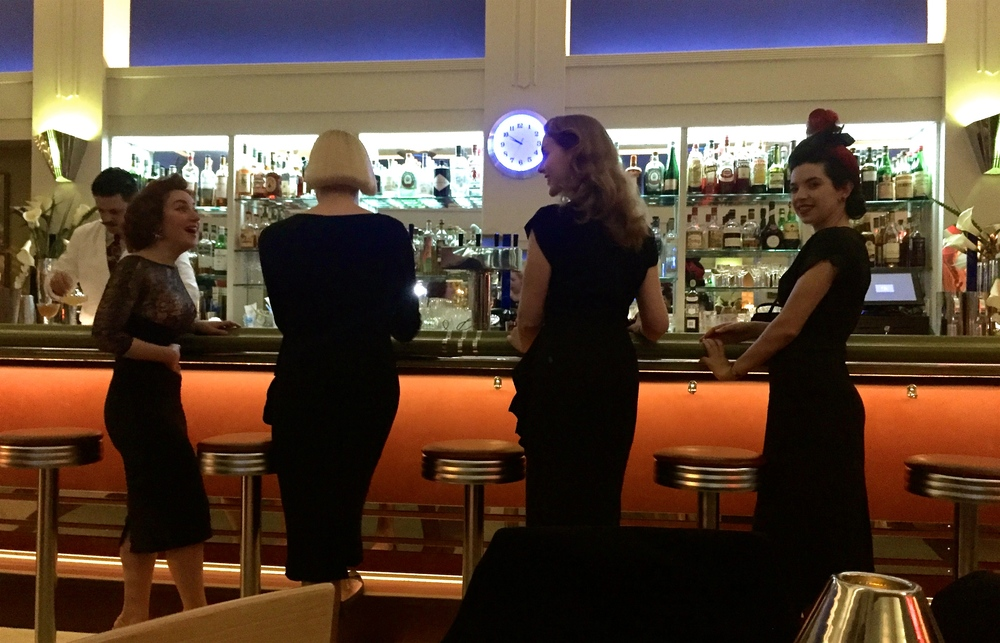 The ladies wait for their drinks