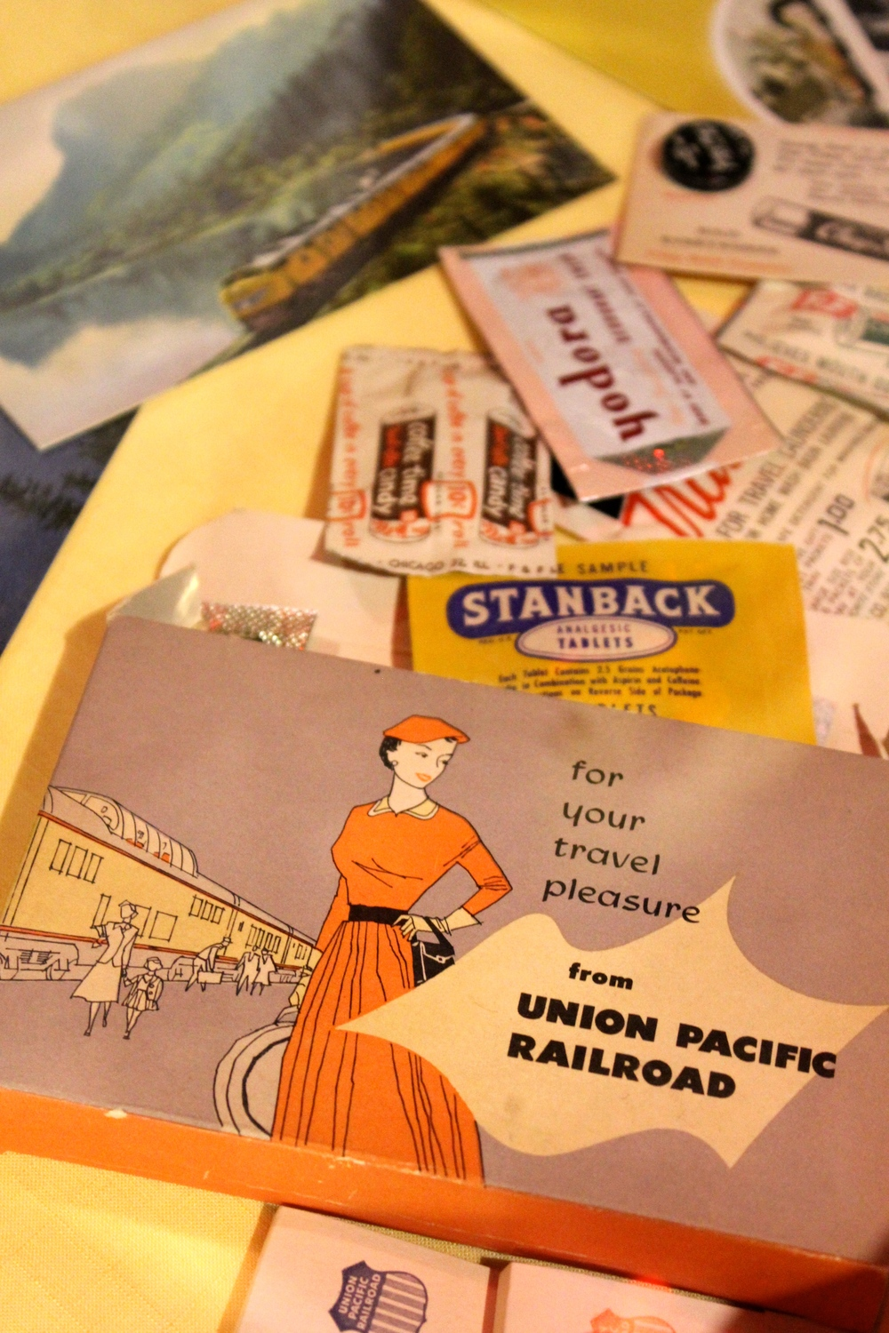 Travel memorabilia at the museum