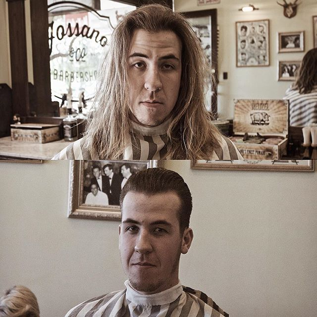 •Evolution Of Man• 🐒 🚶 #HippieHunted #FossanoAndCoBarberShop  #BarberLife #BarberGang  #ChopTheMop #JustDoIt #Before&After