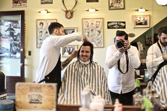 SAY 🧀! 📸  #FossanoAndCoBarberShop  #BarberShop #GoodTimes #YouCanOnACanon #Photography #BarberLife  #BarberGram #Reuzel #Pomade #UppercutDeluxe #HarleyDavidson #