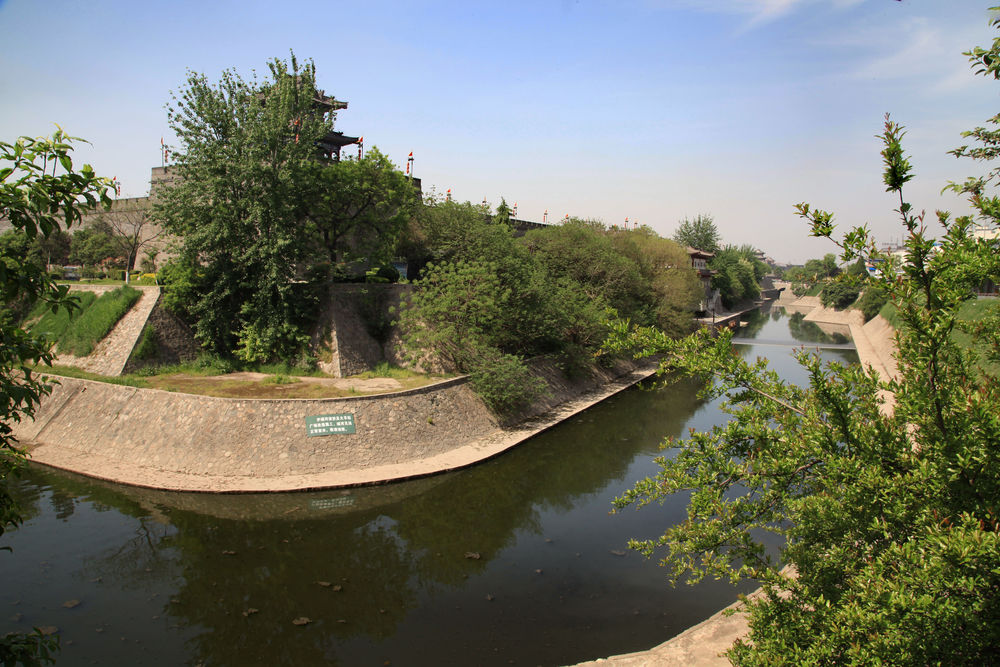 A view of the moat