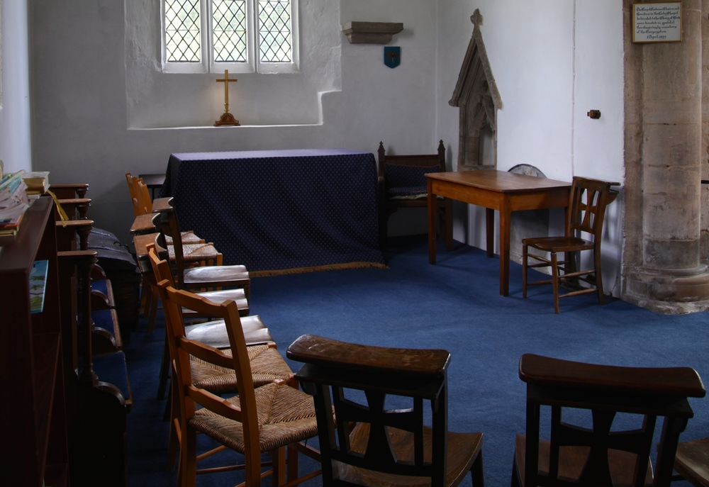 The vestry where Clare attended school