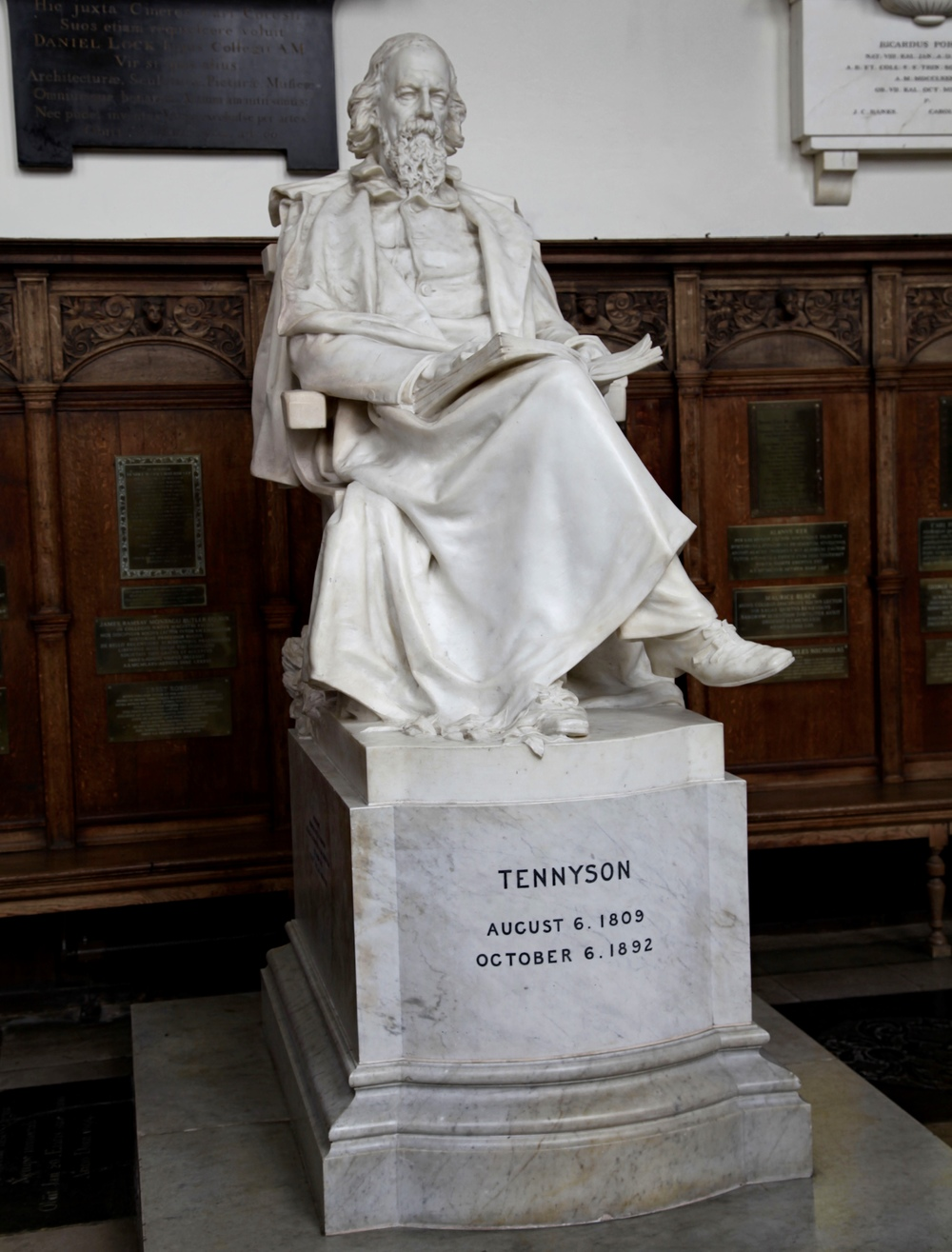 The Grand Old Man of Letters, statue of the Poet Laureate in Trinity College Chapel, Cambridge