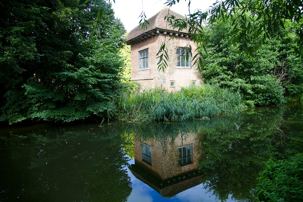 The house at Pyrford, Surrey, where Donne and his wife lived 1600-1604 after his release from prison.