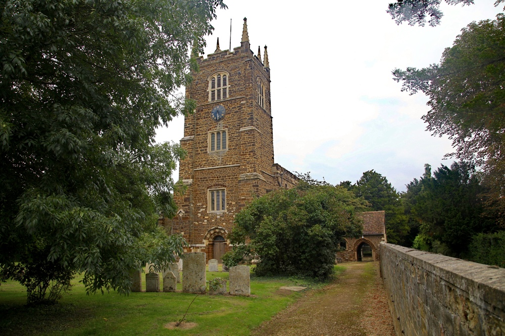 The church of St Edmund & St James in Blunham, Bedfordshire, where Donne was rector for the last ten years of his life.
