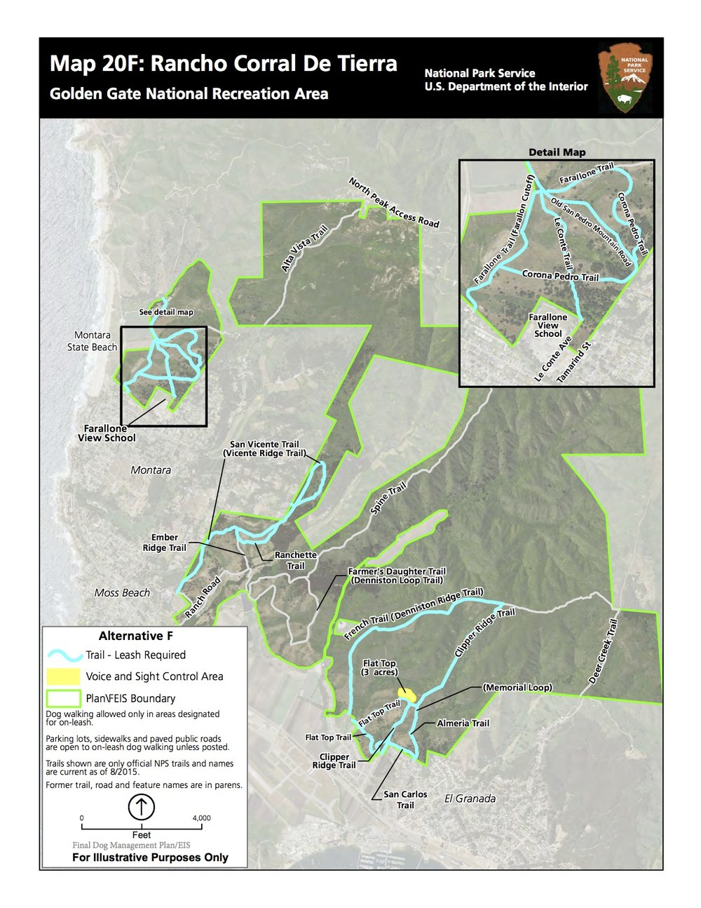 National park service - proposed CHANGES TO dog walking areas    (dec. 2016 Final EIS)