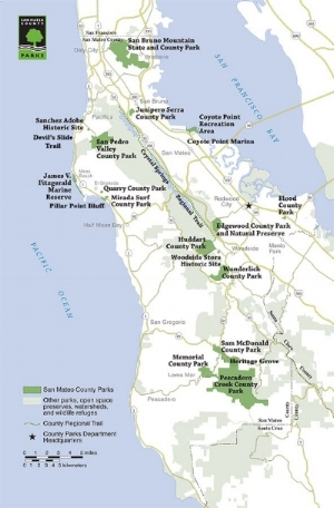 San mateo county parks map