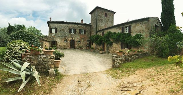 Grateful to be filming at a vineyard in Tuscany. And helping to test the wine.