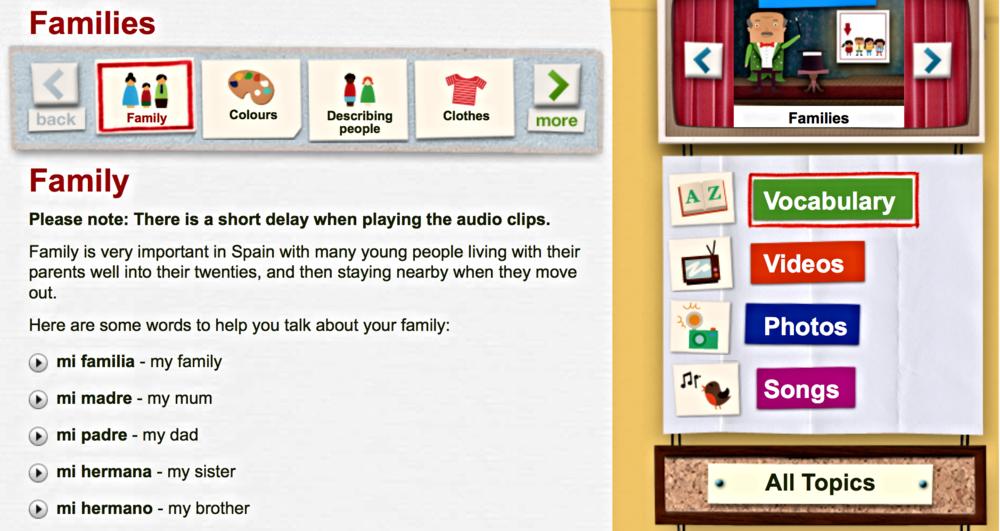 Spansk for børn fra BBC. En spændende hjemmeside med mange gode opgaver.