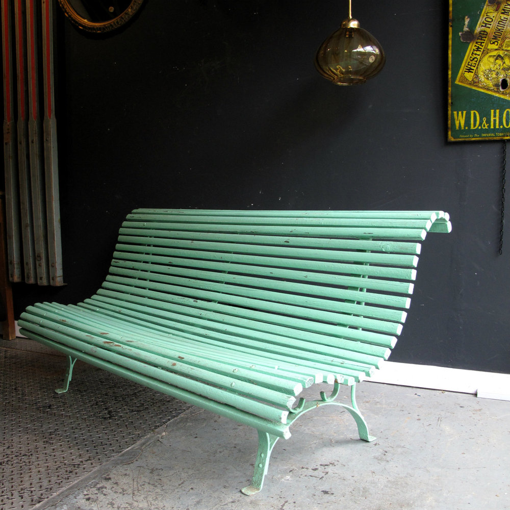 This bench would have originally been installed in the town square...