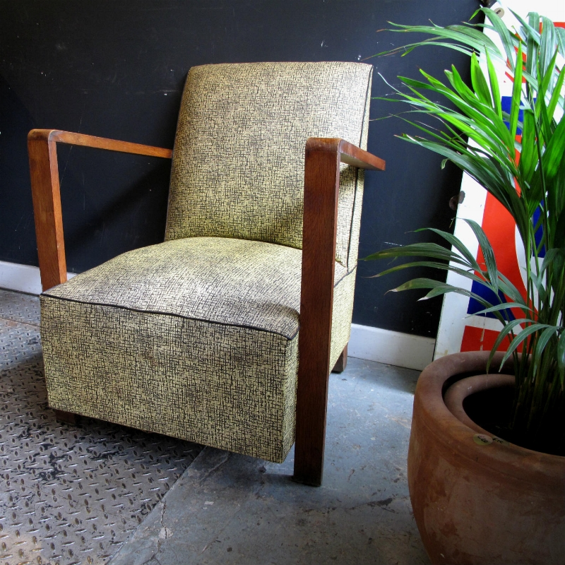 Vintage 1950s French Armchair