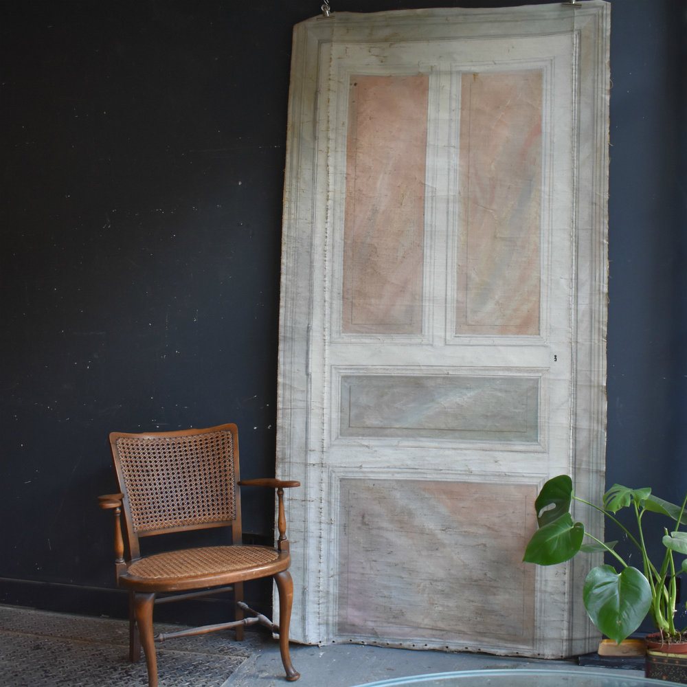 19th Century painted canvas door panel & 19th Century painted canvas door panel u2014 Rag u0026 Bone