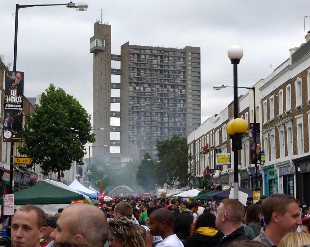 Trellick Tower seen from Notting Hill Carnival, 2009 – James Wakefield