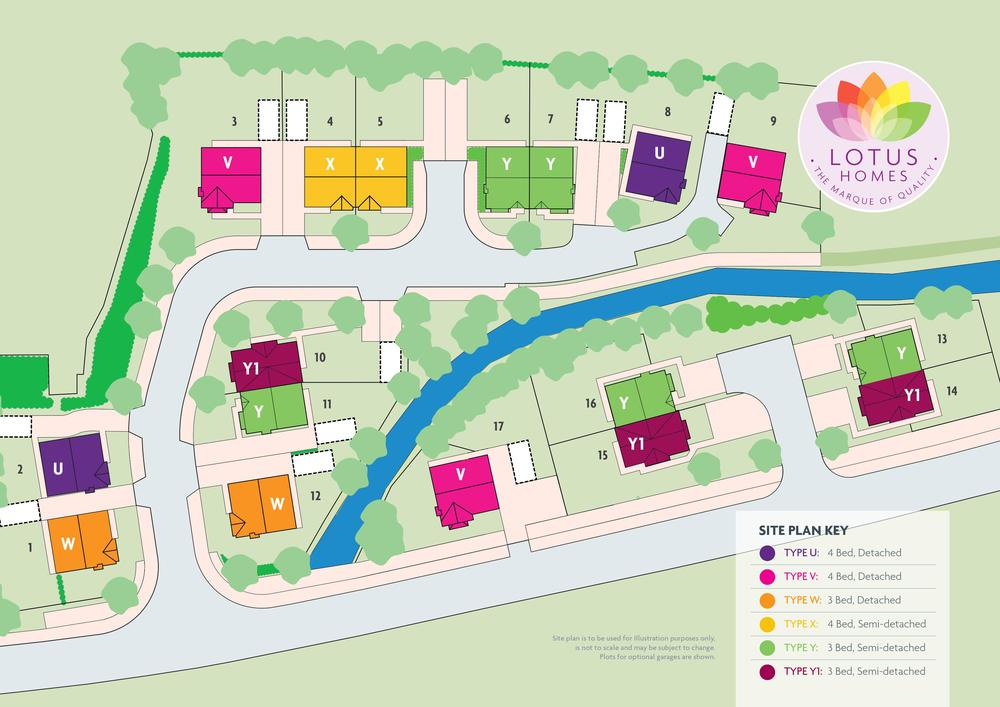 Site plan for Mill Meadows development