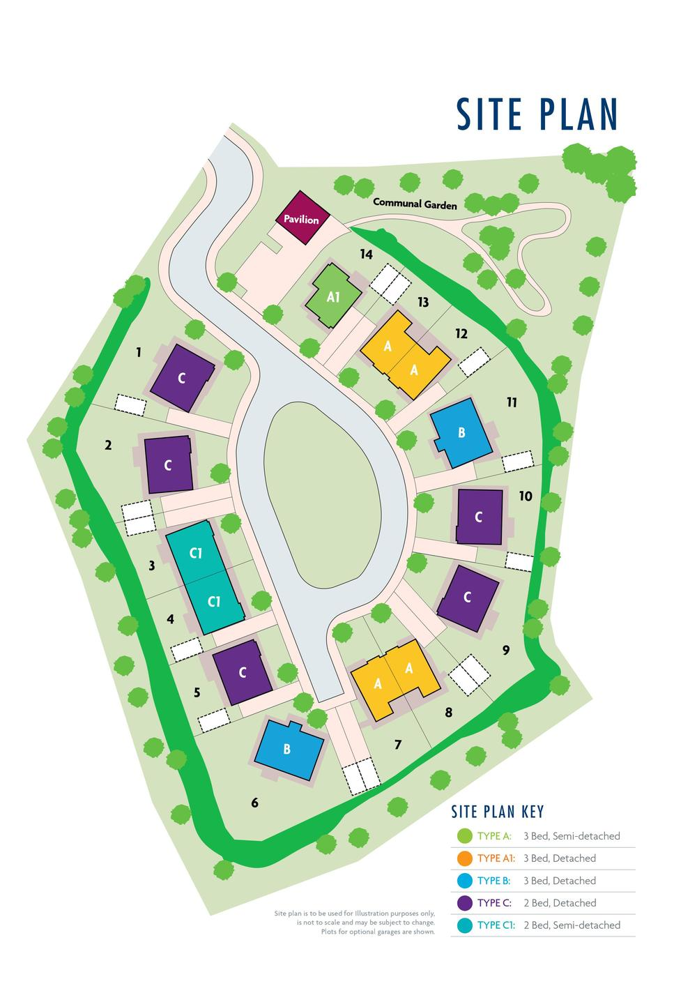 Site Plan for Bannview Court Development