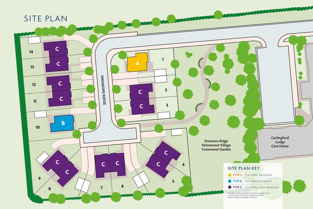 Site Plan for Dromore Ridge Development