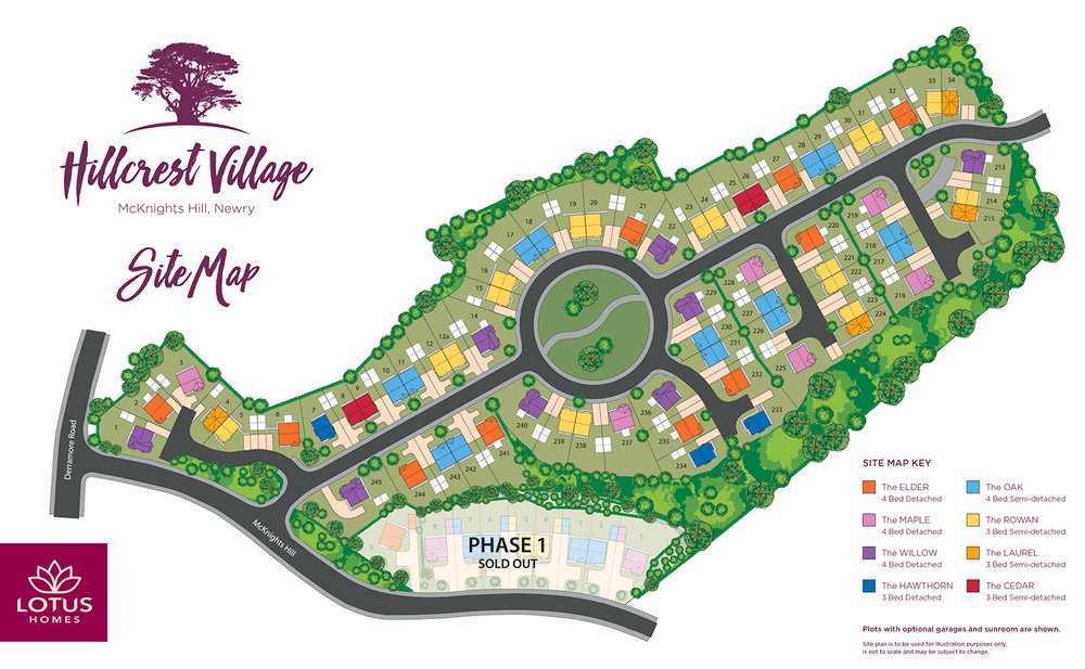 Site Plan for Bishops Green Development
