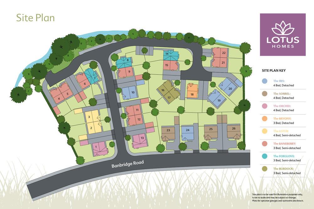 Site Plan for Carrick Meadows Development